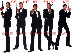 James Bond Height