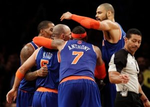 J.R. Smith, Jason Kidd, Carmelo Anthony, Tyson Chandler, Bill Kennedy