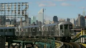 subways 2013 stock-footage-new-york-circa-january-manhattan-midtown-buildings-and-subway-train