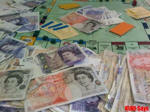 Monopoly Money with real money