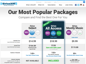Sirius packages
